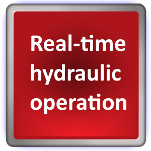 real-time hydraulic operation