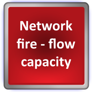 Network-fire flow capacity